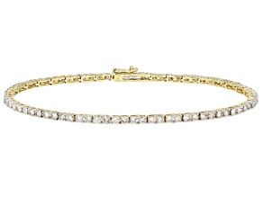 Diamond 10k Yellow Gold Tennis Bracelet 4.00ctw