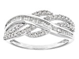 White Diamond 10k White Gold Ring .55ctw