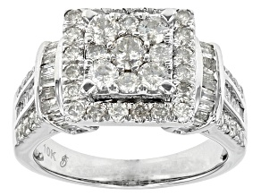 White Diamond 10k White Gold Ring 1.68ctw