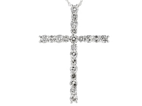 White Diamond 10k White Gold Pendant 1.00ctw