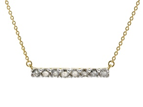 White Diamond 10k Yellow Gold Necklace .50ctw