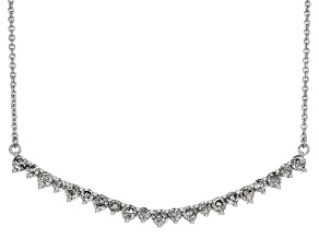 White Diamond 10k White Gold Necklace 1.00ctw