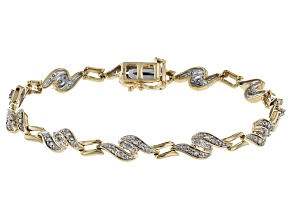 Diamond 10k Yellow Gold Bracelet 1.00ctw