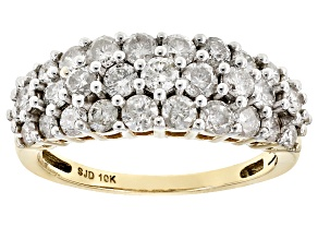 White Diamond 10k Yellow Gold Ring 1.55ctw