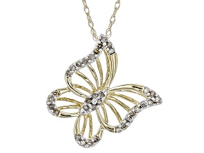 White Diamond 10k Yellow Gold Pendant .10ctw