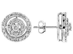 Diamond 10k White Gold Earrings 1.00ctw