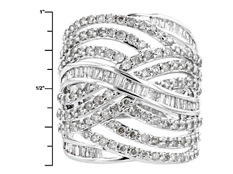 Diamond 10k White Gold Ring 2.12ctw