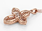 White Diamond 10k Rose Gold Pendant .33ctw