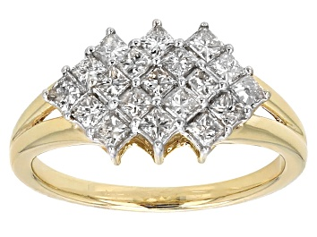 Picture of Diamond 10k Yellow Gold Ring 1.00ctw