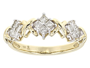Diamond 10k Yellow Gold Ring .50ctw