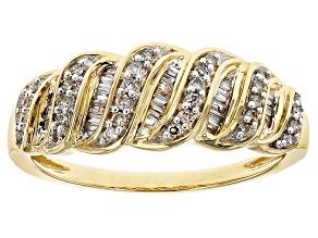 White Diamond 10k Yellow Gold Ring .28ctw