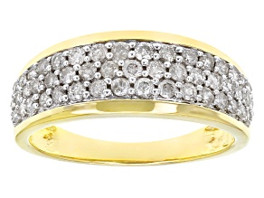 White Diamond 14k Yellow Gold Ring .75ctw