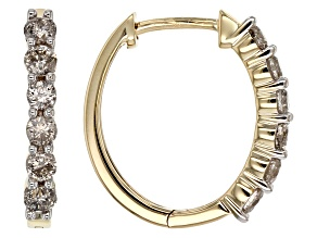 Diamond 14k Yellow Gold Earrings .63ctw