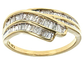 White Diamond 14k Yellow Gold Ring .50ctw