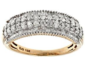 White Diamond 10k Yellow Gold Ring .85ctw