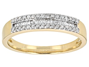 White Diamond 14k Yellow Gold Ring .25ctw