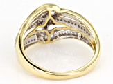White Diamond 10k Yellow Gold Ring .50ctw