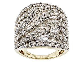 White Diamond 10k Yellow Gold Ring 4.00ctw