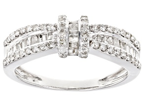 White Diamond 10k White Gold Ring .75ctw