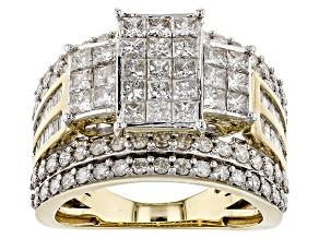White Diamond 10k Yellow Gold Ring 2.75ctw