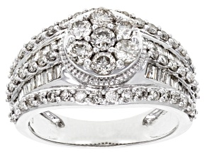 White Diamond 10k White Gold Ring 1.75ctw