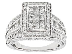White Diamond 10k White Gold Ring 1.98ctw