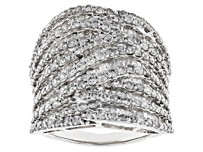 White Diamond 14k White Gold Ring 4.00ctw