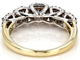 Champagne And White Diamond 10k White And Yellow Gold Ring 1.00ctw
