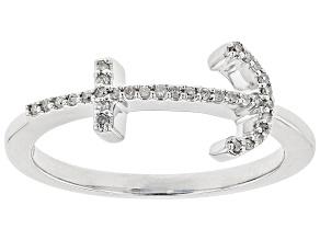 White Diamond 10k White Gold Ring .10ctw