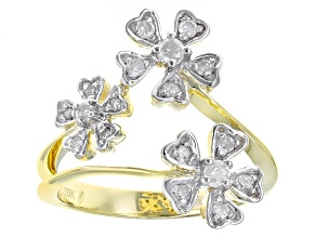 White Diamond 10k Yellow Gold Ring .35ctw