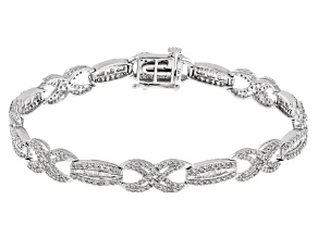 White Diamond 14k White Gold Bracelet 2.50ctw