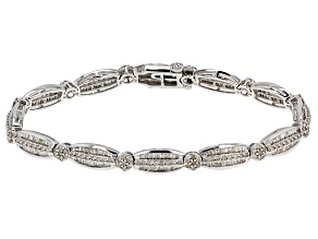 White Diamond 14k White Gold Bracelet 3.01ctw