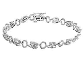 White Diamond 14k White Gold Bracelet 2.15ctw