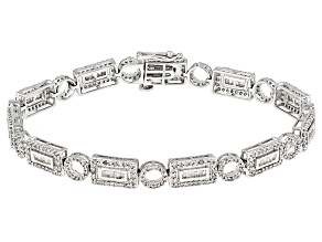 White Diamond 14k White Gold Bracelet 2.57ctw
