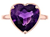 Purple amethyst 18k rose gold over sterling silver ring 4.68ct