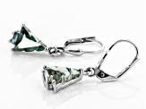 Green Biggering(TM) Mystic Quartz(R) silver earrings 3.70ctw
