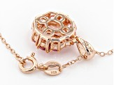 Pink morganite 18k rose gold over silver pendant with chain 2.08ctw