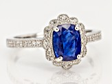 Blue Kyanite rhodium over silver ring 2.15ctw