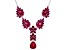 Red lab created ruby rhodium over silver necklace 18.38ctw