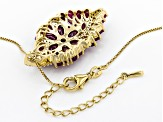 Red Mahaleo(R) ruby 18k gold over silver pendant with chain 8.70ctw