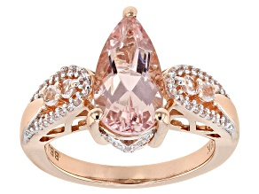 Pink Morganite 10k Rose Gold Ring 2.74ctw