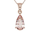 Pink Morganite 10k Rose Gold Pendant With Chain 2.32ctw