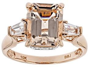 Pink Morganite 10k Rose Gold Ring 2.68ctw