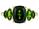 Green Russian Chrome Diopside 10k Gold Ring 2.69ctw