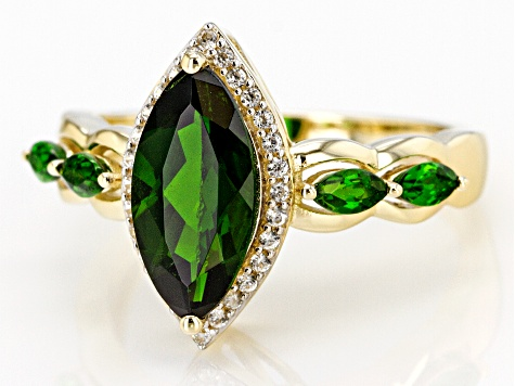 Green Russian Chrome Diopside 10k Gold Ring 2.13ctw