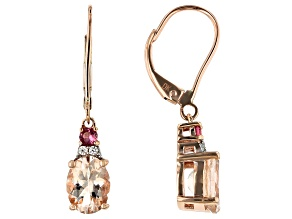 Pink Morganite™ 10k Rose Gold Earrings