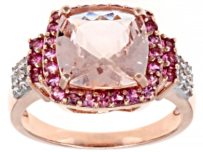 Pink Morganite 10k Rose Gold Ring 4.38ctw