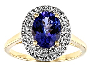 Blue Tanzanite 10k Yellow Gold Ring 1.84ctw
