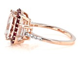 Pink Cor-De-Rosa Morganite™ 10k Rose Gold Ring 3.36ctw