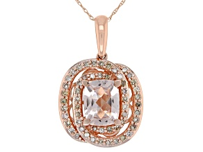 Pink Morganite 10k Rose Gold Pendant With Chain 2.15ctw